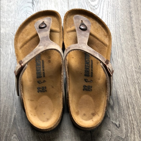 8f98ed2cda9 Birkenstock Shoes - Birkenstock s Women s Gizeh Oiled Leather Sandal
